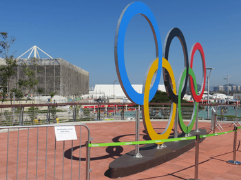 Olympics rings at Rio 2016 Olympic Park